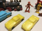 Lot Of 7 Vintage Auburn Locomotive, Cars, Tractor And Figures