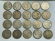 A Lot Of Twenty 1921 1 Morgan Silver Dollars 10 P And 5 D And S Mint Coins