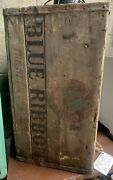 Rare Vintage Early Pabst Blue Ribbon Beer Bottle Wood Crate Box