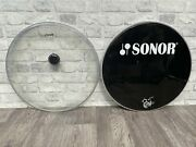 """Sonor Bass Drum Heads Skins Set Of 2 20"""""""