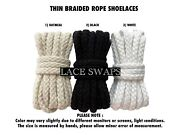 1 Pair Thin Braided Rope In 47 55 63 Inches Travis Scott Inspired Shoelaces Jack