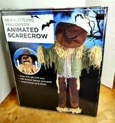 Halloween Animated Scarecrow 68.9/5ft Tall Motion Activated Head Moves Up/down