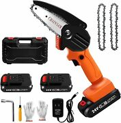 Mini Chainsaw Cordless 4inch Small Electric Chain Saw/24v 2500 Mah Battery Power