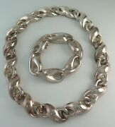 Charles Krypell Vintage Sterling Silver Infinity Knot Necklace And Bracelet