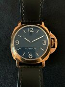 Advisor Bronze Limited Edition C Series Black Dial Leather Strap Menand039s Watch