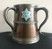 Rare 1904 Panama Canal Isthmian Commission Copper Pewter Engraved Tankard