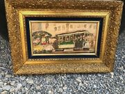 Vintage San Francisco Powell And Mason Cable Car Painting By John Checkley T