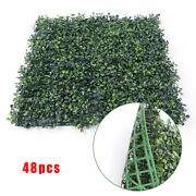 48greenartificial Boxwood Hedges Mat Wall Hedge Decor Privacy Fence Panel Grass