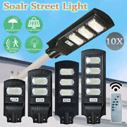 10x Solar Street Lights Outdoor Waterproof Road Lamp Remote Control Ip65 Led