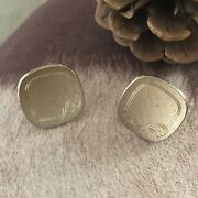 Vintage Menandrsquos Swank Etched Gold Cuff Links