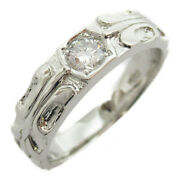 Jewelry Diamond Ring Pt900 Platinum Clear Kenji Collection Used 19