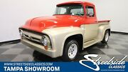 1956 Ford F-100 302 V8 C4 Auto Power Steering Custom Two Tone Paint Nice Interior Sweet