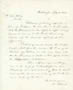 Senator From Pa David Wilmot Disapproves Of An Appointment By Abraham Lincoln