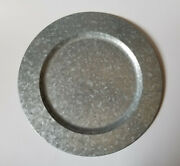 Pottery Barn 14 Charger Plate Galvanized Steel Metal Rustic Farmhouse