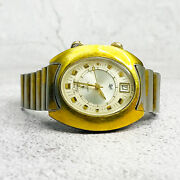 Vintage Lecoultre Automatic Memovox With Date 37mm Stainless Steel Gold Plated