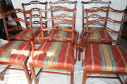 Charming Set Of Six Chippendale Mahogany Dining Chairs 2 Arm And 4 Side Chairs