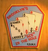Gemsco Nos Fdny Vintage Patch Ladder 146 - Brooklyn And039s Ace In The Hole Ny