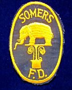 Gemsco Nos Rare Original Old Bet Patch - Fire Somers Fd Ny - 70+ Year Old