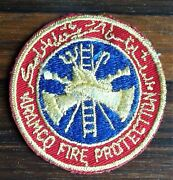 Gemsco Nos Vintage Patch Fire Aramco Arabian American Oil Co. - 60+ Year Old