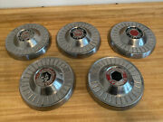 1953 1954 1955 Packard Clipper Dog Dish Poverty Wheel Cover Hubcaps Set Of 5 Oem