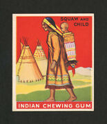 1933 Goudey Indian Gum 146 Squaw And Child From Original Collection
