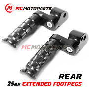 Cnc R-fight 25mm Extended Passenger Foot Pegs For Kawasaki Zzr 1100 90-01