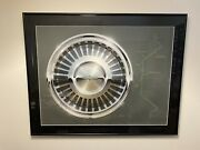 Original 1960s Lincoln Wheel Design Drawing Done By Ford Designer Ultra Rare