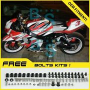 Red Patten Gsxr1000 Fairing + Tank Cover Kit Fit Gsx-r1000 2003-2004 83 A6