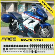 Blue Glossy Abs Fairing With Tank Cover Fit Honda Vfr800 2002-2012 28 A2