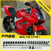 Red Glossy Abs Fairing With Tank Cover Fit Honda Vfr800 2002-2012 21 A6