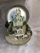 Disney Cinderella So This Is Love Musical Wind Up Castle Snowglobe Excellent