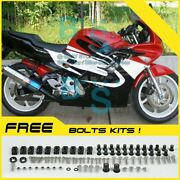 Red Glossy Abs Fairing With Tank Cover Kit Fit Honda Cbr600f2 1991-1994 44 Yy