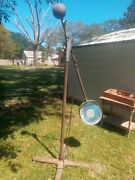 Antique Castle Cast Iron Surgical Lamp Portable Very Awesome