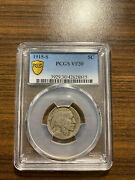 1915-s Buffalo Nickel 5c Pcgs Very Fine 30 Vf 30 Type 2 Five Cents In Recess