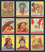 1933 Goudey Indian Gum Group Of 36 Different Numbers 74 To 157 G To Ex