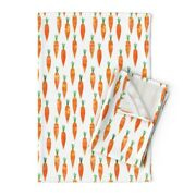 Watecolor Easter Carrot Orange Linen Cotton Tea Towels By Roostery Set Of 2