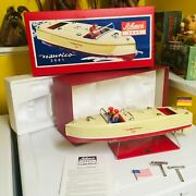 Schuco Nos Large Clockwork Tin Nautico 3001 Boat. Never Removed From It's Box