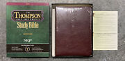 New Thompson Nkjv Chain Reference Bible Bonded Leather Burgundy Red Letter