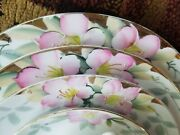 59pc. Noritake Azalea China Complete Service For 8 Red Green Stamp Antique Vgc