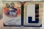 2020 Topps Luminaries Ronald Acuna Jr 1/1 Auto Patch Book Card Letter J Braves