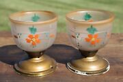 Vintage Ceiling Light Fixtures Hall Porch Pendant Frosted Floral Glass Bathroom