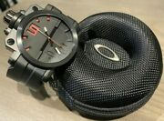 Men's Gearbox Watch Stealth Stainless Black With Red Rare Discontinued