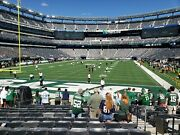 New York Jets Vs Tennessee Titans 10/03/21 2 Tickets Lower Level + Parking
