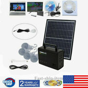 Solar Panel Power System Kit Charging Generator Outdoor Camping Travel 4led Bulb