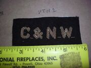 1910and039s Chicago And Northwestern Railroad Candnw Rr Patch Hand Sewn Hat Shirt Station