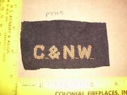 1910and039s Chicago And Northwestern Railroad Candnw Rr System Patch Hand Sewn Made Old
