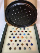 Solitaire Di Venezia Game With Hand Blown Art Glass Marbles