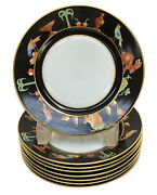 8 And Co. Private Stock Le Tallec Bread Plates In Black Shoulder