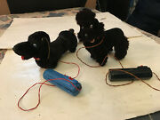 Battery Operated Vintage Toy Dogs Pair Made In Japan Poodle Dachshund