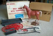 1967 Marx Johnny West Buckboard With Thunderbolt Box Complete Parts/instructions